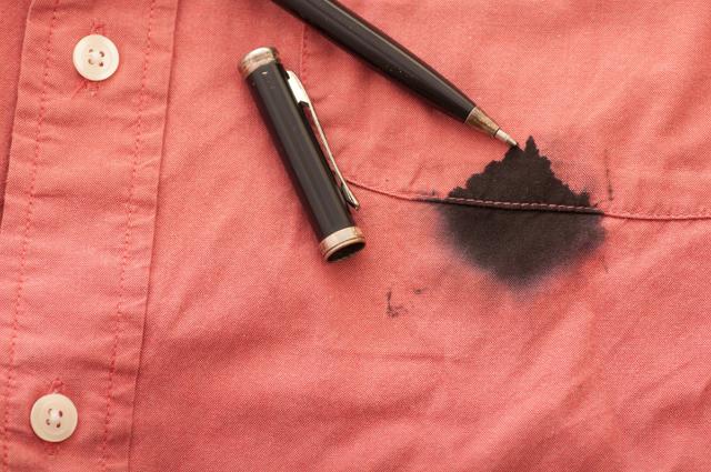 ボールペンのインク汚れ