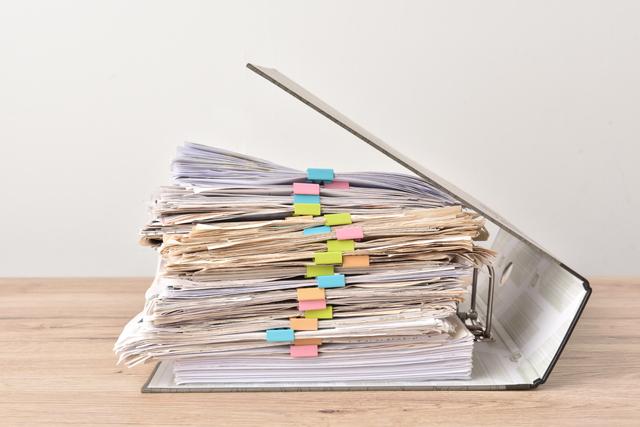 ファイルと束の書類