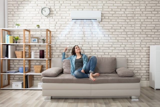 エアコンの効いた快適な部屋