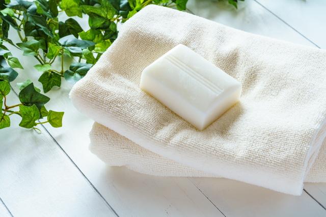 石鹸とタオル
