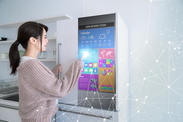 近未来的な冷蔵庫