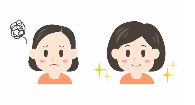 髪型の比較