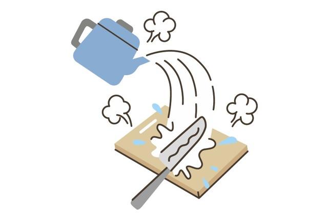 まな板と熱湯