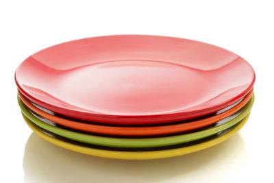 カラフルな皿