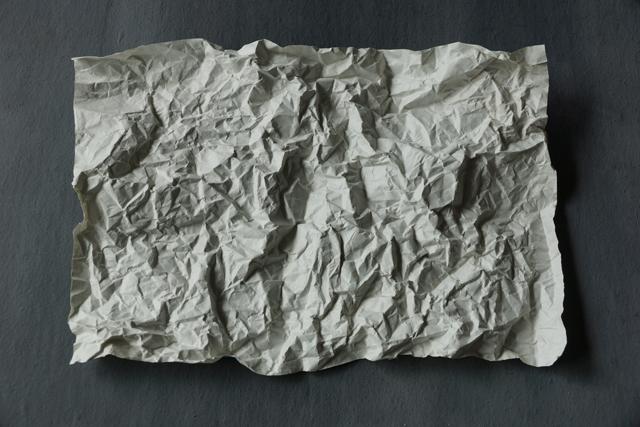 しわしわの紙