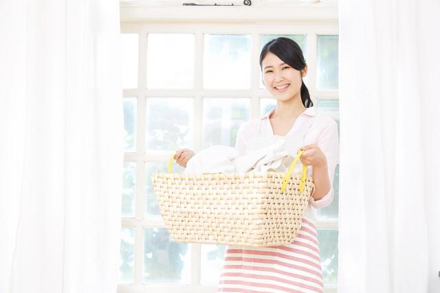 洗濯をした女性