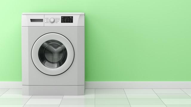 大きなドラム式洗濯機