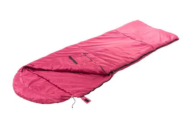 ピンクの寝袋