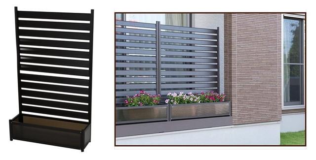 山善 ガーデンマスター アルミプランターフェンス(幅90高さ149) KAPF-90150(DBR)