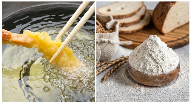 天ぷらと小麦粉