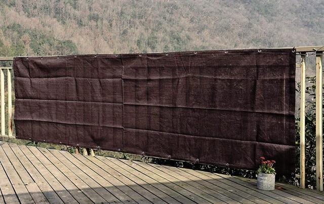 SEASONS ベランダ バルコニー シェード 日よけ 目隠し プライバシー UVカット 簡単設置 カット可能 ハトメ 22個 結束バンド 付属 270×100cm