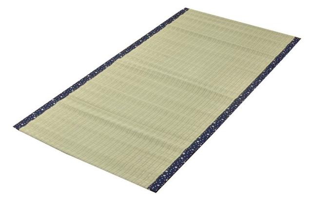 イケヒコ シーツ い草シーツ 寝ござ 国産 『白水』 ブルー シングル 約88×180cm (熊本県八代産イ草使用)