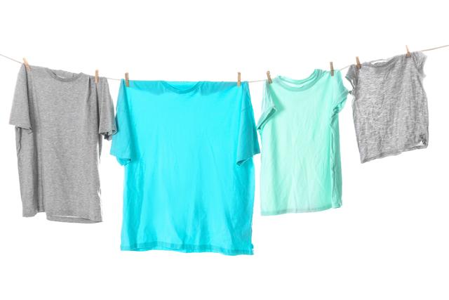 Tシャツ干し