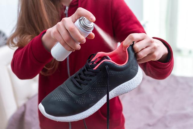 靴に防水スプレー
