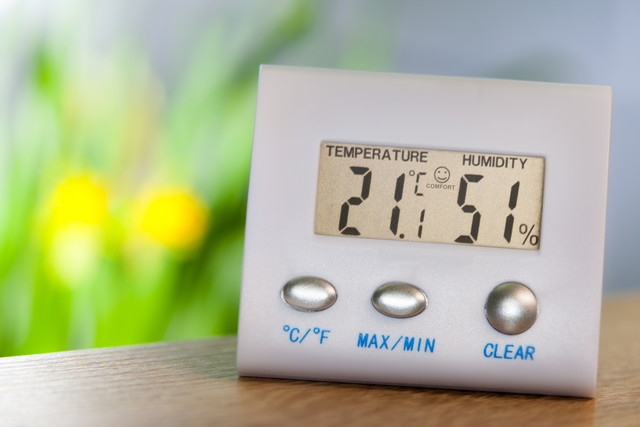 温度と湿度計
