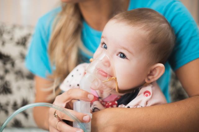 アレルギー喘息の赤ちゃん