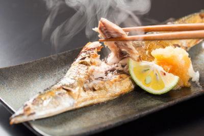 ほかほかの焼き魚
