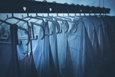 夜の洗濯物