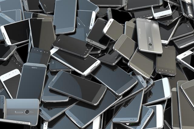 古いスマートフォン
