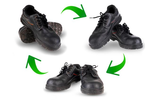 安全靴のローテーション