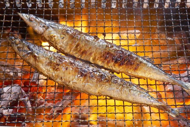 焼かれている魚