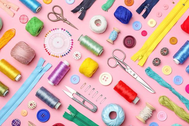 カラフルな裁縫道具