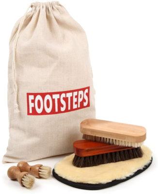 [FOOTSTEPS] 靴磨き ブラシ セット