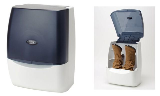 CARL TECHNO HIKARI DE KIREI 【一家に1台 1台3役】 靴除菌脱臭乾燥機 ホワイト/ネイビー CSS500