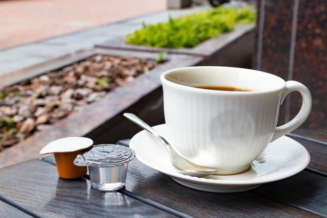 コーヒーとガムシロップ