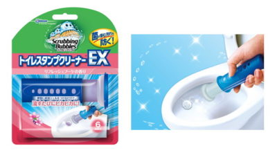 スクラビングバブル トイレ洗浄 トイレスタンプクリーナー トイレスタンプEX リフレッシュブーケの香り 本体(ハンドル1本+替え1本) 38g