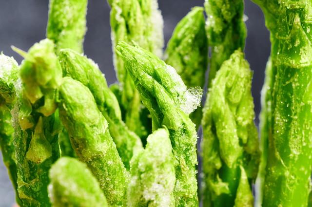 冷凍アスパラガスの茎