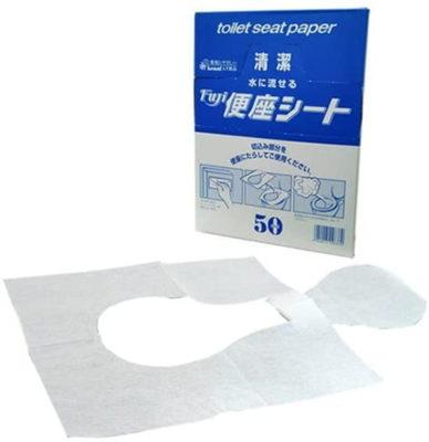 フジナップ 水に流せる紙便座シート
