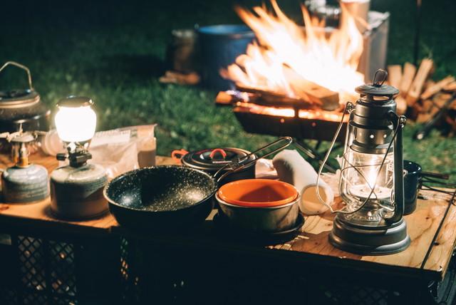 キャンプ場のご飯