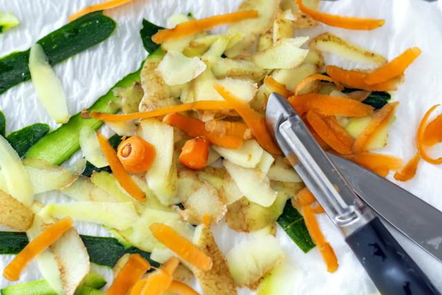 たくさんの野菜の皮