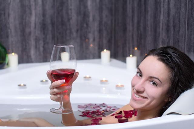 ワイン 風呂