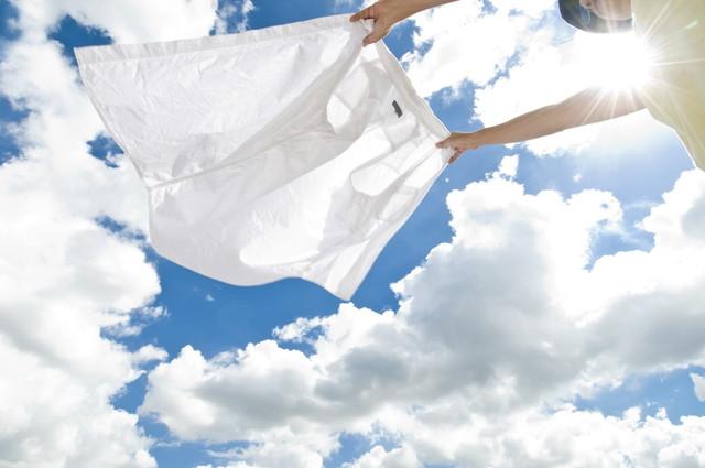外で干してある洗濯物