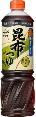 ヤマサ醤油 昆布つゆ 1000ml