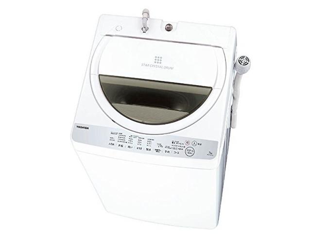 東芝 全自動洗濯機 7kg グランホワイト AW-7G6 W