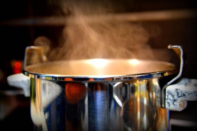 ふきんは煮沸