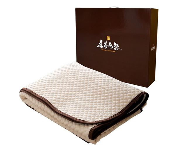 麻夢物語 敷きパッド 麻を使った天然素材の快適な肌触り 100×205cm シングル 水洗い 通気性 敷きシーツ