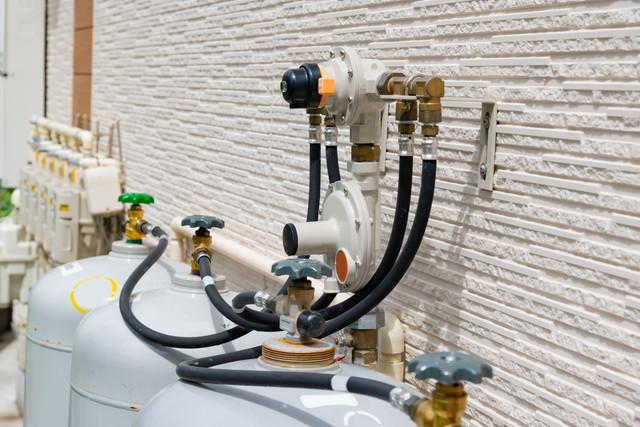 集合住宅のガスメーター