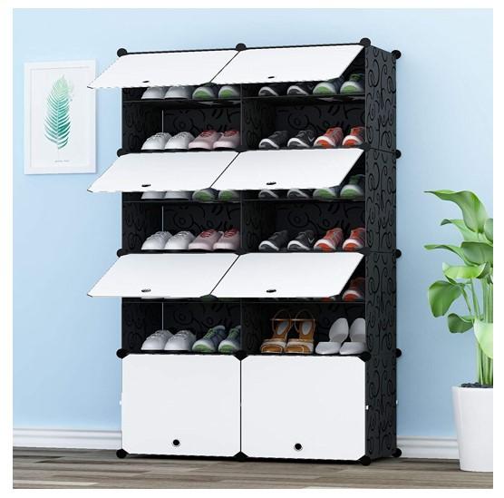 MIXED 組み立て式 シューズボックス DIYブーツラック 靴箱