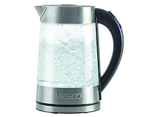 【NESCO】電気ケトル(ガラス製)