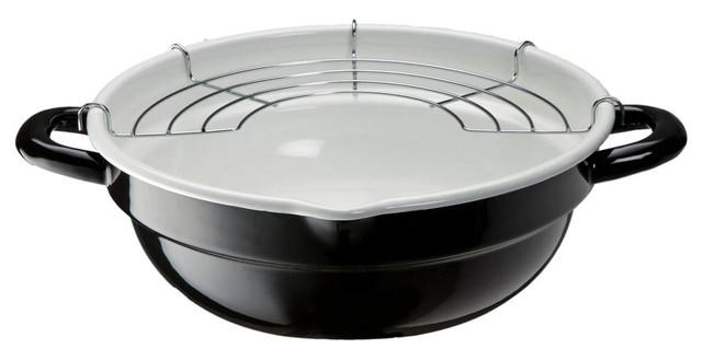 高木金属 天ぷら鍋 ホーロー 24cm