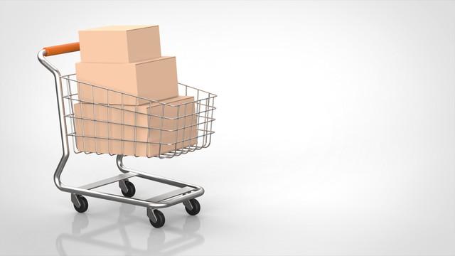 ショッピングカートと商品