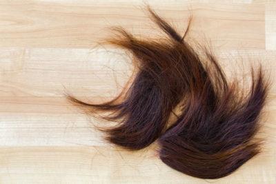 フローリングに落ちている髪の毛