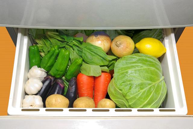 野菜室のキャベツ