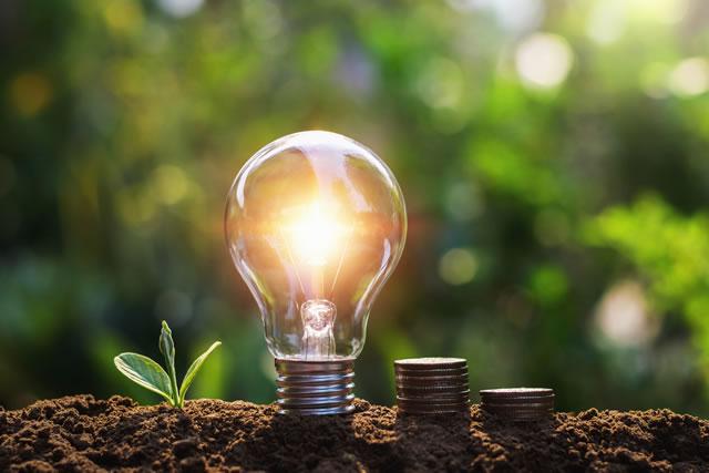 エコな使い方をして電気代が減るようす