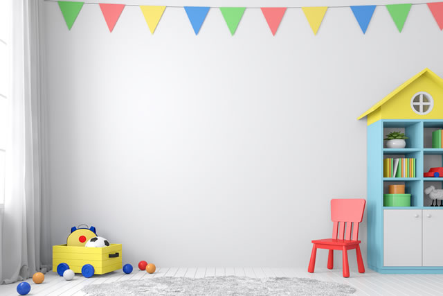 玩具のある子供部屋