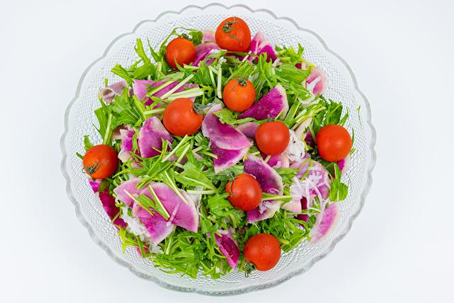 紅芯大根と水菜のサラダ